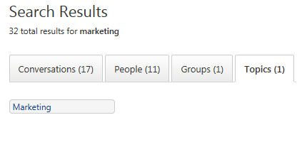 Search Topic in Yammer