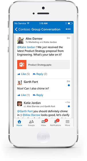 Yammer App Image from Yammer.com site